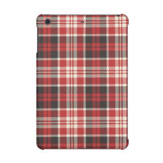 Red and Black Plaid Pattern iPad Mini Retina Case