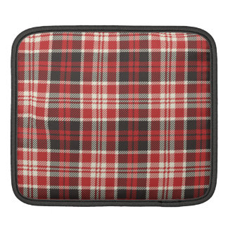 Red and Black Plaid Pattern iPad Sleeve