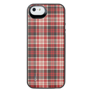 Red and Black Plaid Pattern iPhone SE/5/5s Battery Case