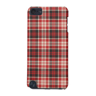 Red and Black Plaid Pattern iPod Touch 5G Cases