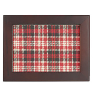 Red and Black Plaid Pattern Keepsake Box
