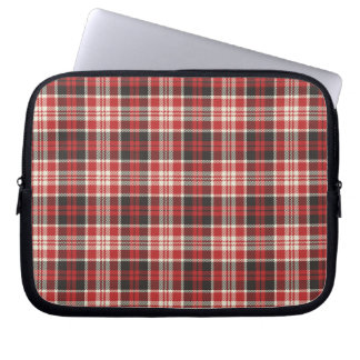 Red and Black Plaid Pattern Laptop Sleeve