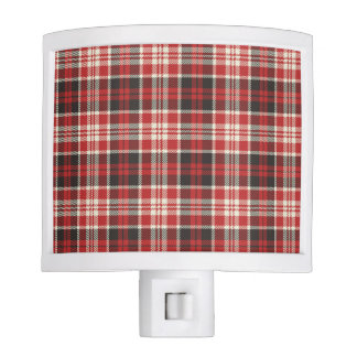 Red and Black Plaid Pattern Night Light