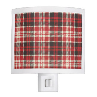 Red and Black Plaid Pattern Nite Lights