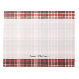 Red and Black Plaid Pattern Notepad