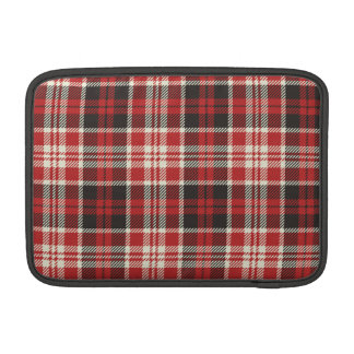 Red and Black Plaid Pattern Sleeve For MacBook Air