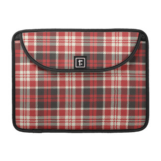 Red and Black Plaid Pattern Sleeve For MacBook Pro