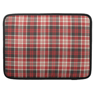 Red and Black Plaid Pattern Sleeve For MacBooks