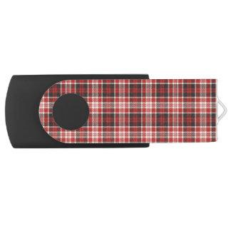 Red and Black Plaid Pattern Swivel USB 3.0 Flash Drive