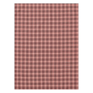 Red and Black Plaid Pattern Tablecloth