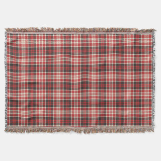 Red and Black Plaid Pattern Throw Blanket