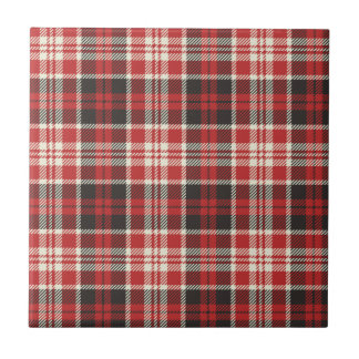 Red and Black Plaid Pattern Tile