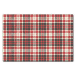 Red and Black Plaid Pattern Tissue Paper