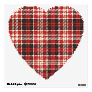 Red and Black Plaid Pattern Wall Decal