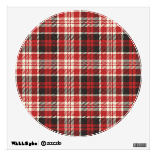 Red and Black Plaid Pattern Wall Sticker