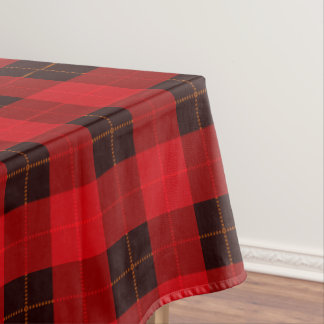 Red and Black Plaid / tartan pattern table cloth Tablecloth