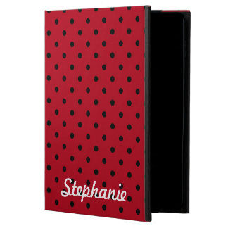 Red and Black Polka Dot Pattern Powis iPad Air 2 Case