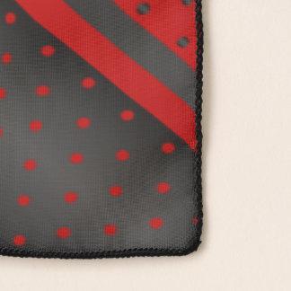 Red and Black Polka Dot Stripes Scarf