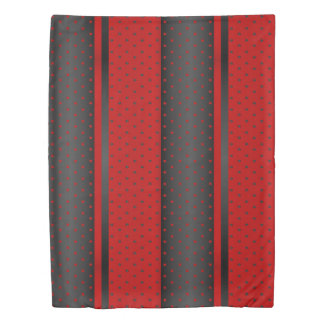 Red and Black Polka Dots Duvet Cover