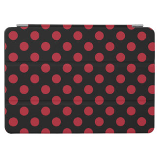 Red and black polka dots iPad air cover