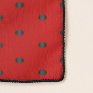 Red and Black Polka Dots Scarf