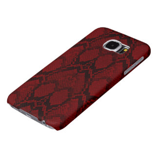 Red and Black Python Snake Skin Reptile Scales Samsung Galaxy S6 Cases