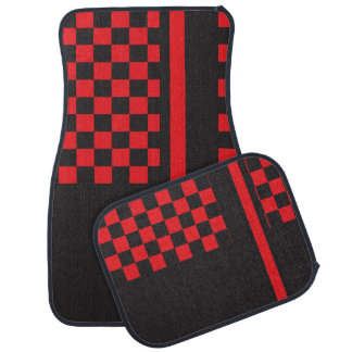Red and Black Racing Stripe | Monogram Car Liners