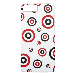 Red and Black Retro circle pattern iPhone 7 Plus Case