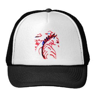 Red and Black Running Zebra Trucker Hat