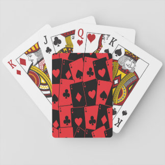 Red and Black Russian Roulette Playing Cards