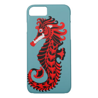 Red and Black Seahorse iPhone 8/7 Case