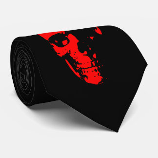 Red and Black  Skull Tie