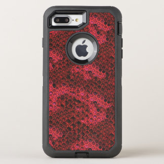 Red and Black Snake Skin OtterBox Defender iPhone 7 Plus Case