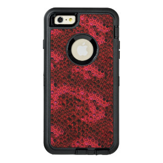 Red and Black Snake Skin OtterBox Defender iPhone Case