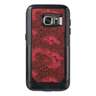 Red and Black Snake Skin OtterBox Samsung Galaxy S7 Case