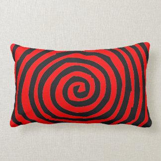 Red and black Spiral   Design Lumbar Pillow