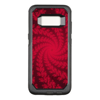 Red and Black Spiral Fractal Otterbox Case