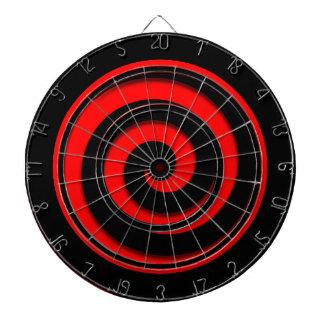 Red and Black Spiral Hypnotic Regulation Dartboard