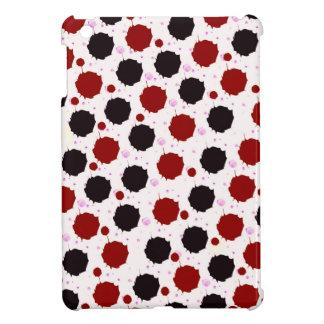 Red and Black Splash Dots iPad Mini Cover