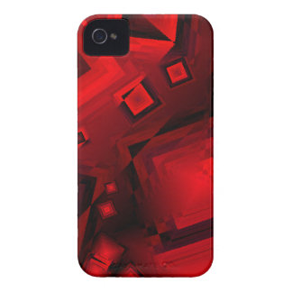 Red and black squares iPhone 4 cover