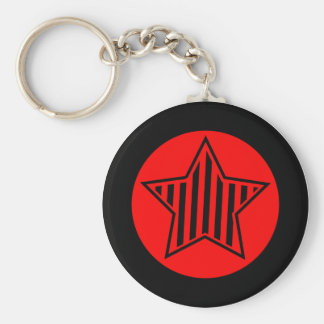 Red and Black Star Keychain