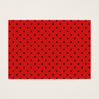 Red and Black Stars Pattern. Business Card