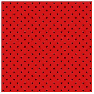 Red and Black Stars Pattern. Photo Cutout