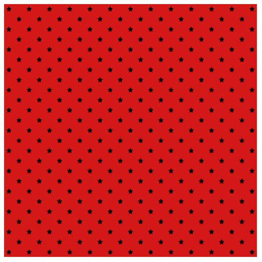 Red and Black Stars Pattern. Photo Cutout