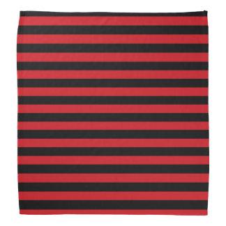 Red and Black Stripes Bandana