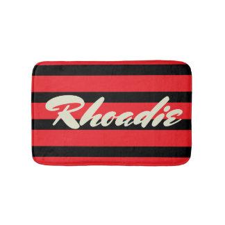Red and Black Stripes Bath Mat