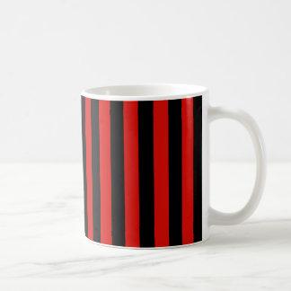 Red and black stripes, Milan soccer team, Italy Coffee Mug
