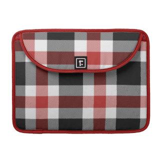 Red And Black Tartan Mac Pro Sleeve