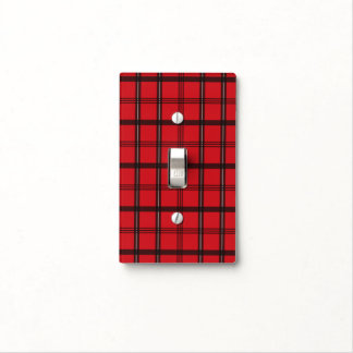 Red and Black Tartan Plaid Light Switch Cover