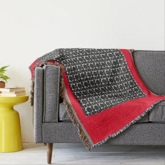 RED AND BLACK THROW BLANKET
